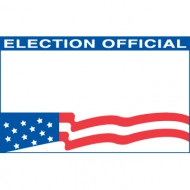 Voter's Choice Self Adhesive Election Official Badges