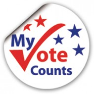 photograph about I Voted Stickers Printable titled My Vote Counts! Sticker