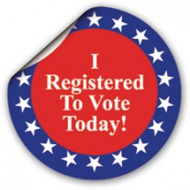 I Registered To Vote Today! Sticker