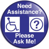 "3"" Need Assistance Button"