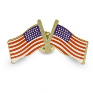 Double USA Flag Clutch Pins