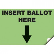 Voter's Choice Insert Ballot Here Sticker