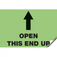 Voter's Choice Open This End Up Sticker