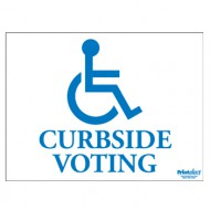 Curbside Voting Sign (with Access Symbol)