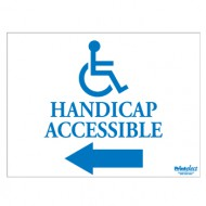 Handicap Accessible Sign (with Arrow & Access Symbol)