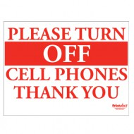 Please Turn Off Cell Phones Sign