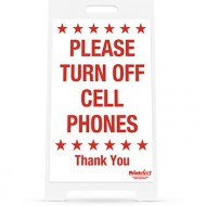 "14"" x 22"" Please Turn Off Cell Phones Sign"