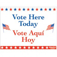 Bilingual Vote Here Today Sign (English/Spanish)