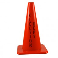 Election Department orange cone