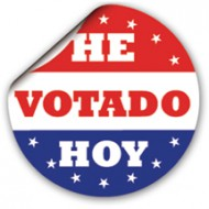 picture relating to I Voted Stickers Printable referred to as Spanish I Voted At present Sticker