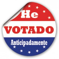 Spanish I Voted Early Sticker