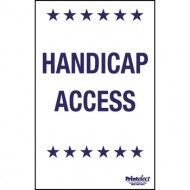 Handicap Voter Parking Sign