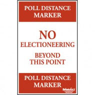Poll Distance Marker Sign