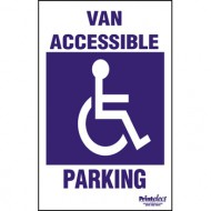 Van Accessible With Symbol Parking Sign