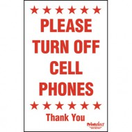 """24"""" x 36"""" Please Turn Off Cell Phones Sign"""