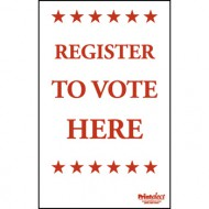 Register To Vote Here Sign