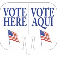 Vote Here / Vote Aqui Cone Cap Sign