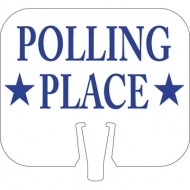 Polling Place Cone Cap Sign