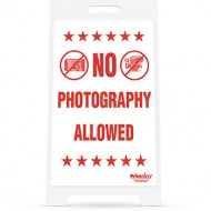No Photography Allowed Sign