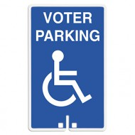 Voter Parking with Handicap Access Symbol Sign