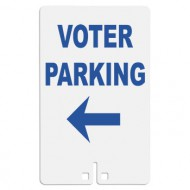 Voter Parking with Arrow Sign