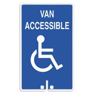 Van Accessible with Handicap Symbol Sign