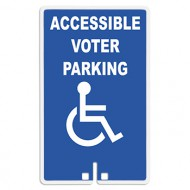 Accessible Voter Parking with Handicap Access Symbol Sign