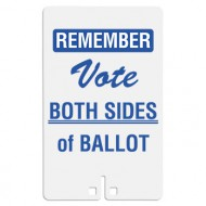Remember Vote Both Sides of Ballot Sign