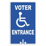 Voter Entrance with Handicap Access Symbol Sign
