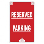 Reserved Parking Suction Cup Sign