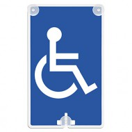 Handicap Access Suction Cup Sign