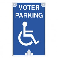 Voter Parking (with Handicap Access Symbol) Suction Cup Sign