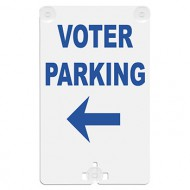 Voter Parking (with Arrow) Suction Cup Sign