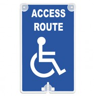 Access Route (with Handicap Access Symbol) Suction Cup Sign