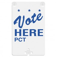Vote Here (with Precinct ID Area) Suction Cup Sign