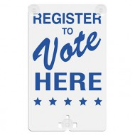 Register To Vote Here Suction Cup Sign