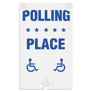 Polling Place (with Handicap Access Symbol) Suction Cup Sign