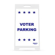 "14"" x 22"" Voter Parking Sign for 2-Sided Interchangeable Sign Stand"