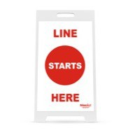 "14"" x 22"" Line Starts Here Election Sign"