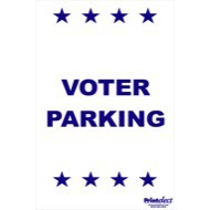 Voter Parking Sign