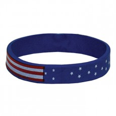 Rubber Patriotic Flag Bracelet