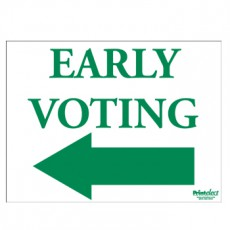 Early Voting Sign (with Arrow)