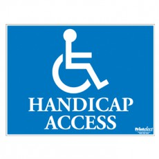 Handicap Access Sign (with Access Symbol)