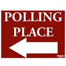 Polling Place Sign (with Arrow)