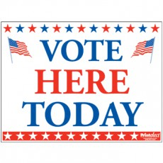 Vote Here Today Sign