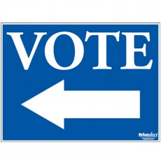 Vote Sign (with Arrow)
