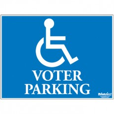 Voter Parking Sign (with Access Symbol)