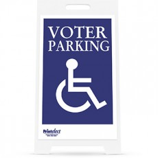 Voter Parking with Access Symbol Sign