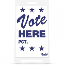Vote Here PCT. Sign