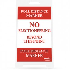 Poll Distance Marker Sign and Stand